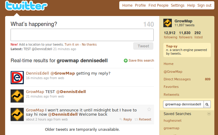 Search results for GrowMap Tweets to DennisEdell