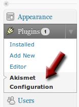 Locate Akismet Configuration