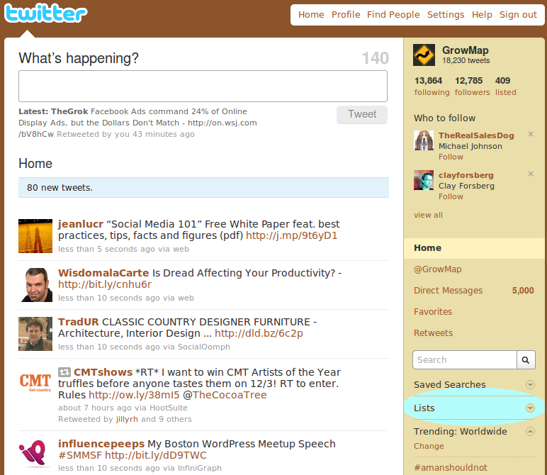 Twitter Lists Location Original View