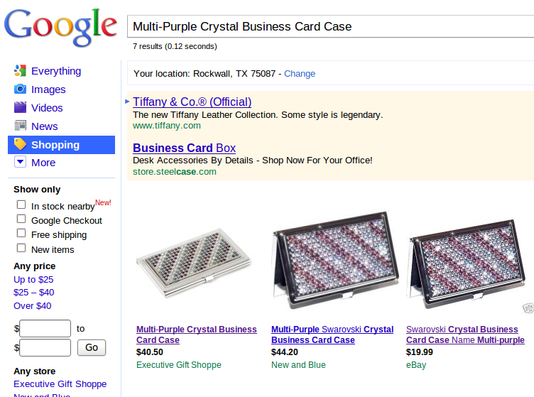 Multi-Purple Crystal Business Card Case