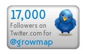 GrowMap 17000 Twitter Followers