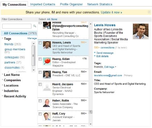 LinkedIn Contact Management