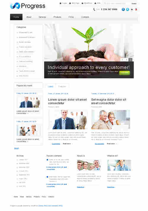 Progress WordPress theme