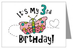 Blog third birthday