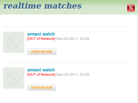 Goskoop real time matches