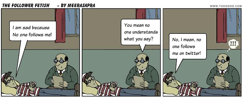 Twitter Follower Cartoon