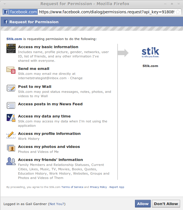 Facebook New Permissions PRIVACY