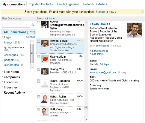 LinkedIn Contact Management