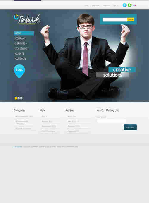 Forbunde Company WordPress theme