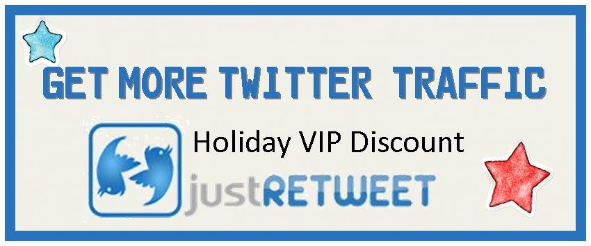 Holiday VIP Discount Featured Spots on JustRetweet