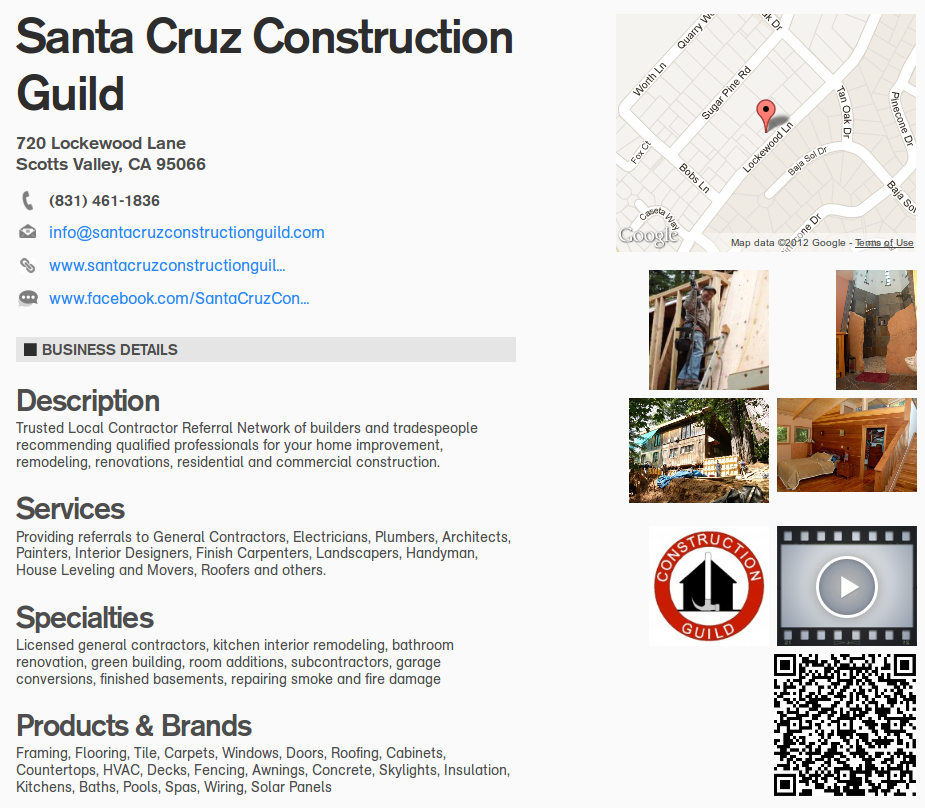 WebCard Santa Cruz Construction Guild
