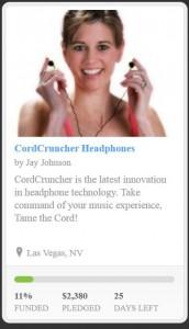 CordCruncher Earbuds Kickstarter Project