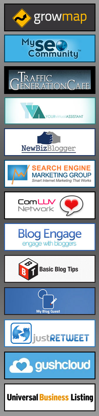 Gushcloud and UBL Small Business Blog Outreach Blogging Contest Media Sponsors Logo Collage